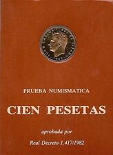 MONEDAS ESPAÑA ESTUCHE 1982 100 PESETAS PRUEBA NUMISMATICA