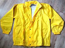 SALE: dünne Regen-/Windjacke / Jacke in gelb mit Kapuze in XL von US Basic