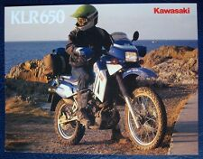 KAWASAKI KLR650 - MOTOR CYCLE SALES BROCHURE - C.1987 - #P/N99943-1715