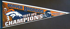 "Denver Broncos AFC Champions Super Bowl XXXII Felt Pennant 12"" x 30"""