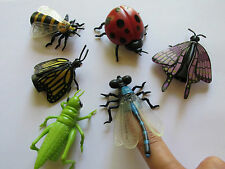 12 INSECT Finger PUPPETS bugs insects toys school SCIENCE PARTY favors FREE SH