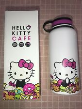 NEW Hello Kitty Cafe Limited Edition Thermal Thermos Water Bottle Big 32oz