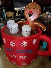 AIRBLOWN INFLATABLE 4.5ft FOOT CHRISTMAS GINGERBREAD HOT COCOA MUG OUTDOOR YARD