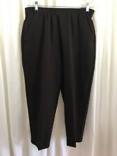 """BRIGGS NEW YORK PETITE Polyester Pull On Pants 14P Brown  Inseam 25"""""""