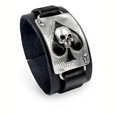 Alchemy UL13 Ace Of Dead Spades Leather Bracelet BRAND NEW