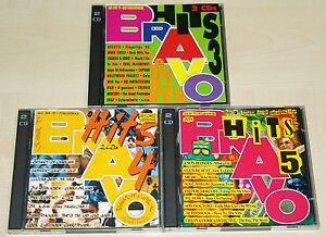 6 CD SET BRAVO HITS 3 4 5 - PRINCE ROXETTE SNAP DJ BOBO PUR ALBAN DURAN VÄTH BAP