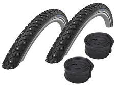 "2 X Schwalbe Marathon Winter Plus Bicycle Spike Tyres // 20"" -28"" + Hoses"