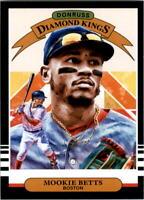 2019 Donruss Baseball #1 Mookie Betts Diamond Kings Boston Red Sox