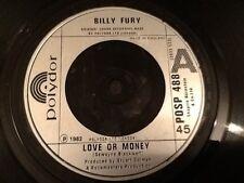 BILLY FURY . LOVE OR MONEY / LOVE SWEET LOVE  . 1982 MINT UNUSED VINYL RECORD