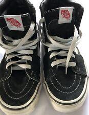 Vans Skatboard Shoe Woman US 8.0 Men US 6.5 Leather Black White Hightop Shoe