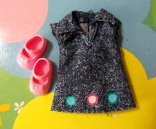 Kelly Chelsea Polymer Small Doll Clothes *Faux Blue Denim Dress & Shoes*