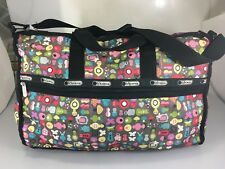 LeSportSac Toot Weekender Tote Large Duffel Zipper Gym Travel Bag Multi-Color