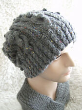 'Misty Mornings'  Slouchy Hat - Easy Knitting Pattern