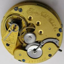 Pocket Watch Movement 16s Elgin convertible 15j. & dial for parts ... HC