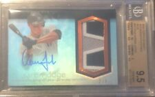 2018 Topps Dynasty Autograph Patches Blue Aaron Judge /5
