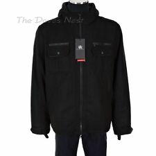 ROCK & REPUBLIC Young Mens XX-LARGE Hooded BLACK COAT Jacket WIND RESISTANT Warm