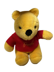 """Vintage Winnie the Pooh Plush Red Embroidered Sweater Sears Gund 15"""""""