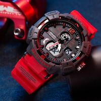 SMAEL 8045 Mens Army Sport Digital Analog Date Alarm Military Quartz Wrist Watch