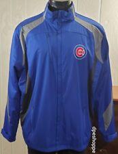 MLB Chicago Cubs Baseball Antigua Blue/Gray Long Sleeve Mock Neck Jacket Sz XL