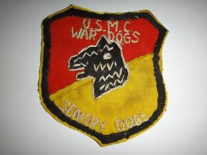 Vietnam Guerre Usmc 1st & 2nd Sentry Chien Platoons Main Cousu Patch