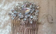 JOHN LEWIS - NEW - Large Stone and CZ Hair Comb Clip - Bridal Party