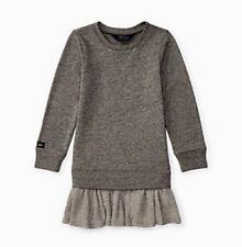 Ralph Lauren Ruffled Dress, Toddler Girls Grey 2-2T NWT