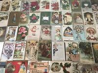 Lot of 100 Holiday Greetings POSTCARDS~Christmas~Easter~Thanksgiving,etc---46