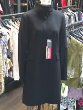 Max Mara Size IT 44 Black Wool Funnel Neck Winter Coat NWT