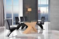 Glass Contemporary 7 Pieces Table & Chair Sets