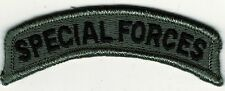 """1"""" x 3 1/8"""" Subdue ACU Grey Gray Black US Special Forces Tab Sew on Patch"""