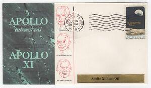 1969 Jul 16th. Commemorative Cover. Apollo XI Blast Off. Pennsylvania.