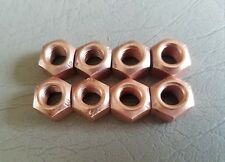 VW AUDI COPPER EXHAUST NUT M8 X 1.25 SET OF EIGHT CRIMPED LOCK NUT $11