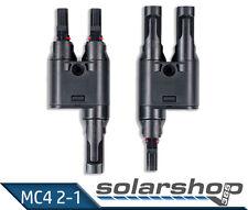 PV Solar MC4 - Y Stecker Paar Verteiler Buchse TÜV Test gut bei Photon NEU