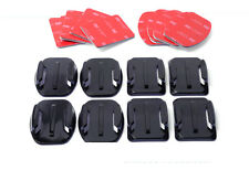 Ajuste Gopro Hero 3+ 4 5 3M curvo plano almohadillas adhesivas pegajoso montajes Accesorios x8
