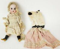 Original Antique Mignonette Bisque Head, Paper Mache Body Signed Doll - (I 74/0)