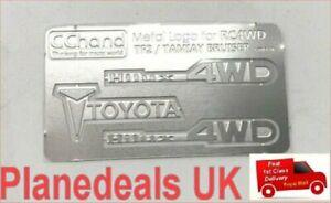 RC ROCK CRAWLER Metal Toyota logo Set for 1:10 TAMIYA Hilux Bruiser  W5