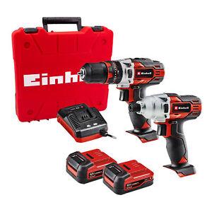 Einhell TE-TK 12 LI 12V Combi Drill and Impact Driver 2 Piece Kit with 2x 2Ah...