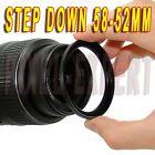 ANELLO ADATTATORE STEP-DOWN 58-52MM RING ADAPTER OBIETTIVO PER CANON 18-55MM