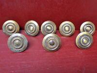 8 VINTAGE MID CENTURY KIT CABINET DOOR DRAWER CLOSET KNOBS #0