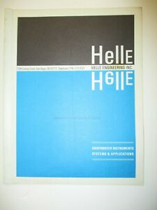 HELLE ENGINEERING 1970's Commercial Diving COMMUNICATIONS catalog -  Helmet