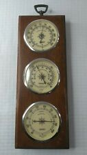 New listing Vintage Wooden Springfield Weather Station Made in The Usa 17x6