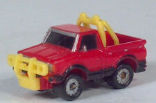 """Red 4 x 4 Micro Machines Datsun Pickup Truck 1.5"""" With Roll Bar Grill Guard"""