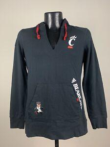 Women's Adidas Cincinnati Bearcats Black Long Sleeve Pullover Hoodie NWT 2XL