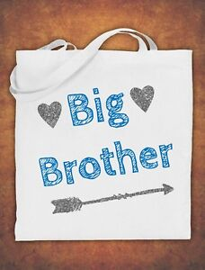 Big Brother Birthday Present Gift baby  kids Tote Bag children's Cotton  - White