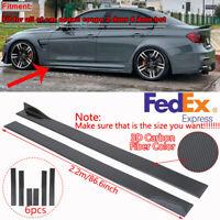 86.6'' Universal Car Carbon Fiber Side Skirt Extension Rocker Panel Splitter Lip