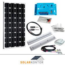 100W WATTSTUNDE® Wohnmobil 12V Solaranlage Solar Set Komplettpaket 100 Watt HXH