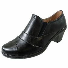Court Block Heel Synthetic Leather Shoes for Women