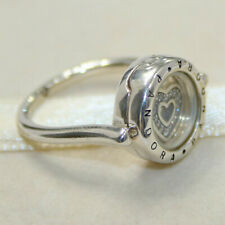 PANDORA Silver Floating Lock Ring Size 52