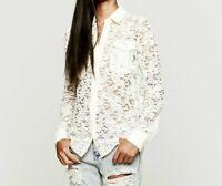 Zimmermann Drifter Lace Shirt White Size 1