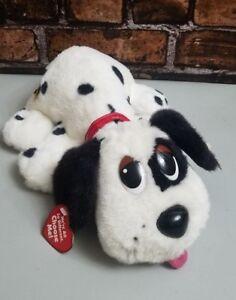 Mattel Pound Puppy Plush Stuffed Interactive Dog Dalmation 2004 Black White NWT